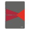 """Leitz Spirálfüzet, A4, vonalas, 90 lap, PP borító, LEITZ """"Office"""", szürke-piros"""