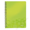 """Leitz Spirálfüzet, A5, vonalas, 80 lap, LEITZ """"Wow"""", zöld (E46390064)"""