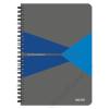 """Leitz Spirálfüzet, A5, vonalas, 90 lap, laminált karton borító, LEITZ """"Office"""", szürke-kék (E44590035)"""