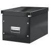 """Leitz Tároló doboz, lakkfényû, L méret, LEITZ """"Click&Store"""", fekete"""