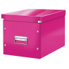 """Leitz Tároló doboz, lakkfényû, L méret, LEITZ """"Click&Store"""", rózsaszín"""