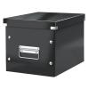 """Leitz Tároló doboz, lakkfényű, M méret,  """"Click&Store"""", fekete"""