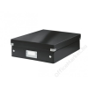 Leitz Tárolódoboz, rendszerező, laminált karton, M méret, LEITZ Click&Store, fekete (E60580095)