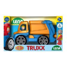 LENA Műanyag kukásautó, figurával autópálya és játékautó