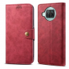 LENUO Leather  Xiaomi Mi 10T Lite készülékhez, piros