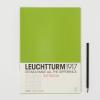 LEUCHTTURM Vonalas jegyzetfüzet /zöld/ - 210 x 297 mm