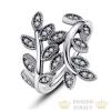 Levél mintás ezüst gyűrű, 6