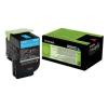 Lexmark 80C2HCE Lézertoner CX410/CX510 nyomtatókhoz, LEXMARK, kék, 3k