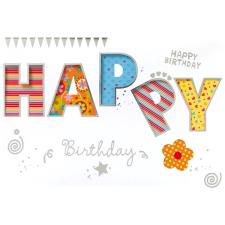 Leykam Alpina (BSB) BSB képeslap, Happy Birthday, színes feliratos. (állvány) képeslap