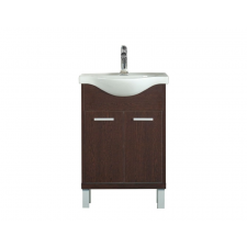 Leziter 55 cm-es Maxima, Nerva, Vita bútorhoz alsószekrény, mosdóval, Tükörfényes fehér színben bútor