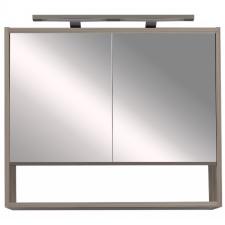 Leziter Luna 80 felső tükrös szekrény, antracit bútor