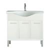 Leziter Nerva 85 cm-es bútorhoz alsószekrény, mosdóval, Tükörfényes fehér színben
