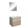 Leziter Porto Prime 60 komplett fürdőszoba bútor sonoma tölgy színben