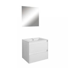 Leziter Porto Prime 60 komplett fürdőszoba bútor tükörfényes fehér színben bútor
