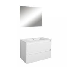 Leziter Porto Prime 80 komplett fürdőszoba bútor tükörfényes fehér színben bútor