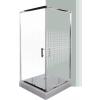 Leziter Spirit Mátrix szögletes zuhanykabin, erősített akril zuhanytálcával