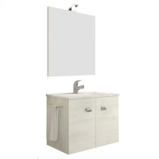 Leziter Zoya 60 fürdőszobabútor kerámia mosdóval fehér tölgy bútor