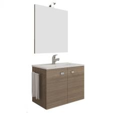 Leziter Zoya 60 fürdőszobabútor kerámia mosdóval füstös tölgy bútor