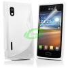 LG E610 Optimus L5 fehér szilikon tok