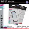 LG F60 D390N, Kijelzővédő fólia, MyScreen Protector, Clear Prémium / Matt, ujjlenyomatmentes, 2 db / csomag