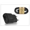 LG gyári USB hálózati töltő adapter + micro USB adatkábel - 5V/1,8A - MCS-04ER black (csomagolás nélküli)