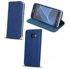 LG K8 (2017), Oldalra nyíló tok, stand, Smart Carbon, kék tok és táska