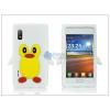 LG LG E610 Optimus L5 szilikon hátlap - 3D pinguin - fehér