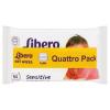 Libero Sensitive nedves törlőkendő érzékeny bőrre 4 x 64 db