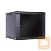 Linkbasic fali rack szekrény 19'' 9U 600x600mm fekete