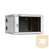 Linkbasic kétrészes fali rack szekrény 19'' 6U 600x550mm szürke