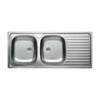 LIVINOX EC138K natúr kétmedence csepptálcás mosogató