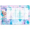 Lizzy Card Disney hercegnők: Jégvarázs kétoldalas órarend - kék