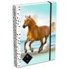 Lizzy Card GEO: barna lovas füzetbox - A4