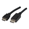 LogiLink - Cable DisplayPort to HDMI; 1m; black