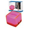 LogiLink Kocka USB2.0 4-Portos HUB, rózsaszín