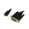 LogiLink Mini HDMI to DVI-D Cable, M/M, 1.0m
