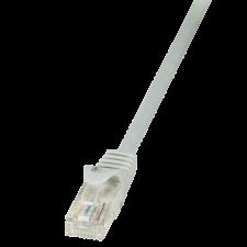 LogiLink patch kábel; CAT 6 U/UTP; EconLine 1;5m; szürke kábel és adapter