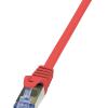 LogiLink patch kábel, Cat.6A 10G S/FTP PIMF PrimeLine piros 0,25m