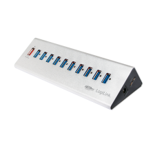 LogiLink - USB 3.0 High Speed Hub 10-Port + 1x Fast Charging Port kábel és adapter