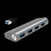LogiLink - USB 3.0 hub; 4 port with card reader; aluminum casing; silver