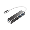 LogiLink - USB-C 3.0 hub; 3 port; with card reader