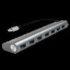 LogiLink - USB-C 3.1 hub; 7 port; aluminum casing; grey