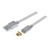 LogiLink USB Sync & Charging cable Micro-USB with magnetic adapter