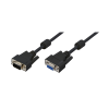 LogiLink -VGA extension cable male female black 2 meter
