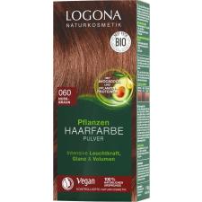 Logona növényi hajfesték por Mogyoróbarna 060, 100 g hajfesték, színező