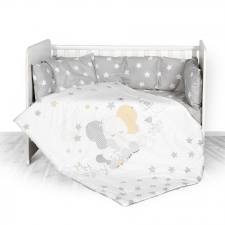 Lorelli 5 részes ágyneműgarnitúra - Elephant Gray babaágynemű, babapléd