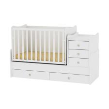 Lorelli Maxi Plus kombi ágy - white kiságy, babaágy