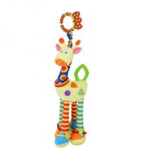 Lorelli Toys plüss játék rágókával - zsiráf plüssfigura