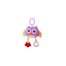 Lorelli Toys plüss játék tükörrel és rágókával - lila bagoly plüssfigura