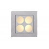 Lucide 17958/11/36 BEN Wall light recessed square + grill 8cm 12V/G4